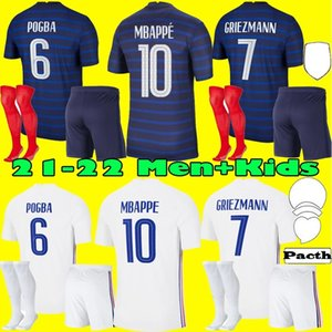 Adult Kids Full kits 2021 FRANCE MBAPPE GRIEZMANN POGBA jerseys 21 22 Soccer jersey KANTE Football shirts THAUVIN maillot de foot