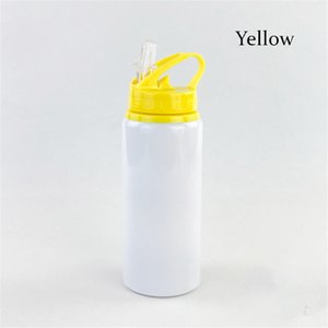 Sublimation Tumbler Water Bottle 20oz Aluminum Sports Kettle Outdoor Portable Drinking Cup Big Capacity Coffee Mug with Lid SEA WAY GWF5903
