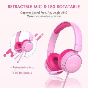 Bluetooth Headphone Wireless Earphone Cat Ear Foldable Headsets W Mic Headphones For Kids Girls & Earphones
