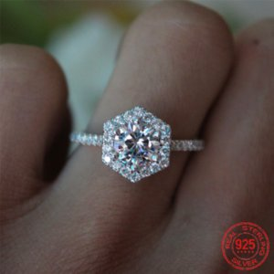 925 Sterling Silver Cushion Cut Finger Ring for Women Jewelry Pure Wedding Engagement Rings Personalized ZR1131