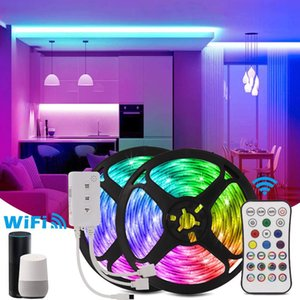 Girloon LED-Licht SMD-Ribbon-Lichter Innenbeleuchtungsstreifen mit Wifi-Controller Neon-Urlaubsraum-Dekor 10m-Streifen