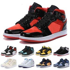 Jumpman 1 1s chaussures chaussures d'athlétisme chaussure pour enfants Femmes hommes Sports Torch Hare jeu Royal Pine Green Court