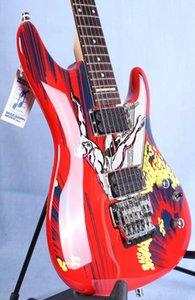 20. Yıldönümü Joe Satriani Sörf Yabancı Kırmızı Elektro Gitar JS20S İmzalı Kakma, Floyd Rose Tremolo Kilitleme Somun