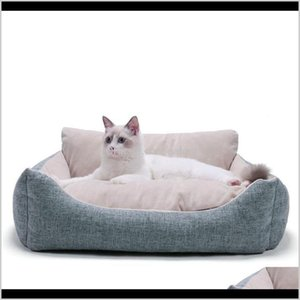 Beds Furniture Cat Home & Garden Dogs Nest Plush Winter Pets Mat Cats Pet Supplies Drop Delivery 2021 L2R4A