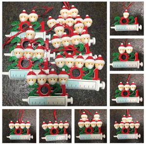2021 عيد الميلاد الديكور الحجرية الحلي الراتنج المواد الأسرة من 1-9 رؤساء diy شجرة قلادة اكسسوارات مع حبل SN5630