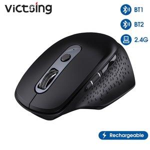 VICKSING PC253 Kablosuz Bluetooth Fare Şarj Edilebilir Ergonomik Bilgisayar Fareler 8 Düğmeler 3200 DPI Başparmak Scroll Tekerlek Dizüstü Bilgisayar