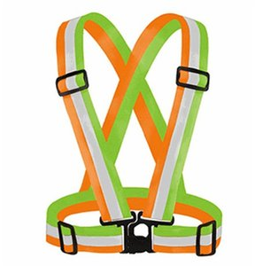 DHL Ship Adjustable Men Wome Reflective Vest Safety Security Tape High Visibility Vests Gear Stripes For Hiking Running Bicycle Walking 4x1.5cm