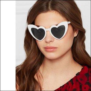 Óculos de sol das mulheres vintage para senhoras na moda coração óculos de sol retro máscaras de vidro espelho Proteção UV Visor de Óculos