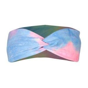 Print Tie-Cread Cross повязки повязки спортсменки йога спортивные обертки пот растягивающиеся волосы полосы обруч для женщин мода будет и песчаный