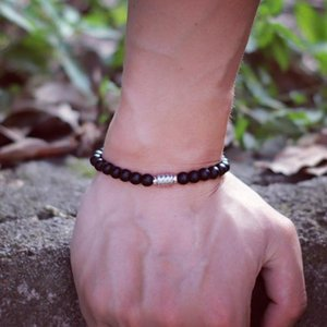 Beaded, Strands 100% Stainless Steel Bracelet Men Women Natural Stone Lapis Lazuli Red Braslet 6mm Small Beads Braclet Onyx Strand Brazalete