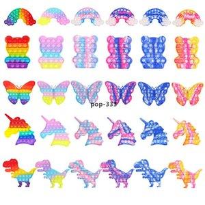 Tie-dye rainbow butterfly cubs unicorn dinosaur spaceman Sensory Toy Autism Special Needs Antistress Reliever Fidget toys Surprise wholesal