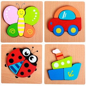 Children Wooden puzzle toys Cartoon three-dimensional hand grasp board building blocks Animal baby intellectual development puzzle toy New