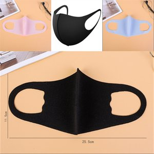 Mouth Ice Mask Anti Dust Face PM2.5 Respirator Dustproof Anti-bacterial Washable Reusable Ice Silk Cotton Masks Adult Child 1701 T2