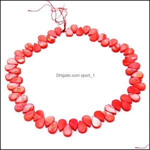 Shell, Bone, Coral Loose Beads Jewelrythe Latest Fashion Charm Natural Freshwater Dyeing Shell Beaded Diy Jewelry Aessories Drop Delivery 20