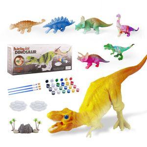 Coloring Books DIY Color Animal Jurassic Dinosaur Children Toys Brachiosaurus Stegosaurus Tyrannosaurus Rex Model Drawing Kids Gifts