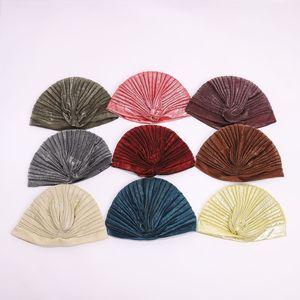 single scarves Turban shipped randomly Indian hats unisex multi-color classic printed headscarves multi-material headgear