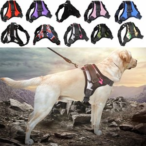 Arnés para perros PET gato correas ajustables con correa reflexivo transpirable para pequeños y grandes Dogharness Chaleco Mascotas Suministros WLL618