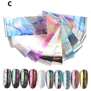 DHL Nail Art Stickers With Color Marble Flower Gilding Pattern Transfer Foil Accessories for Manicuring Design