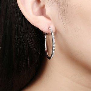 Designer di lusso orecchini a cerchio orecchini da donna orecchini micro zircone rosa oro / argento / orecchini in oro gioielli 490 Q2