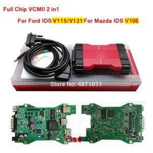 Full Chip VCM II 2in1 Interface para IDs Ford V115 / V121 para Mazda IDs V106 VCM2 Ferramenta de Programação de Diagnóstico VCMII VCM 2