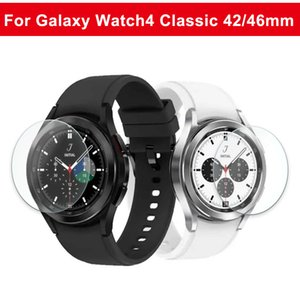 50pcs bag 2.5D Tempered Glass Screen Films for Samsung Galaxy Watch 4 Watch4 Classic 40mm 44mm 42mm 46mm Protective film