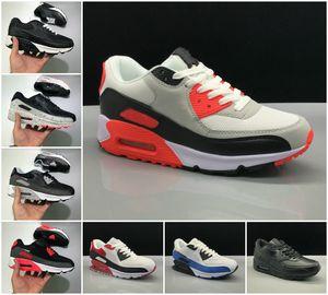 90 رجل الاحذية سوبرنوفا bred viotech infrared الولايات المتحدة الثلاثي البرتقالي الأخضر الأبيض الأسود فولت الأصفر univeristy الأحمر 90 ثانية النساء المدربين الرياضية أحذية رياضية