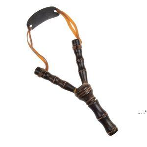 새로운 나무 slingshot 야외 촬영 완구 대나무 스타일 나무 장난감 아이들 어린이 스포츠 게임 슬링 샷 투석기 재미있는 사냥 선물 FWD5713