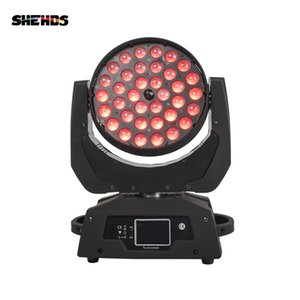 SHEHDS LED Washing Zoom Moving Head Light 36x12W 18W RGBW +UV Touch Screen Suitable For DMX Stage Professiona KTV Effect
