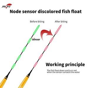 Smart Pesca Float Bite Alarm Fish Bait LED Color Color Cambie Automático Noche Electrónico Cambiando Boy Boy Resplandor en The Dark CR425 Accesorios