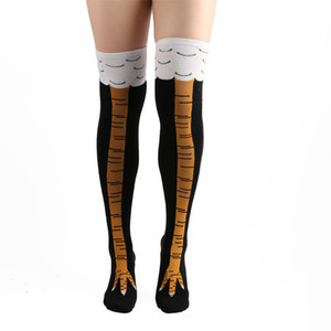 3D Woman Chicken Claw Socks Funny Happy Thigh High Socks Unisex Fashion Creativity Harajuku Girls Ostrich Over the Knee Socks