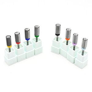 Nail Art Equipment 5 In 1 Carbide Multi-function Drill B 3 32 2-Way Bit-Extra Fine To 4 X Coarse-Electric Machine (Silver)