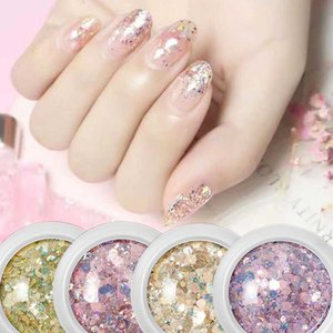 Nail Glitter Crystal Aurora For Flakes Sequins Holographic Manicure Paillettes Shining Charm Art