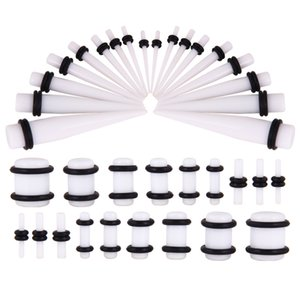 White Black Acrylic Mixed Pointed Cone Ear Ear Amplifier Auricle Set Piercing Jewelry 36-Piece Set