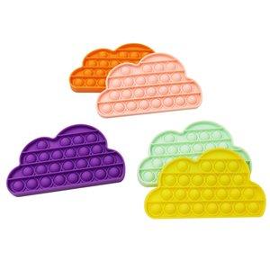 Дети Pop Fidget Toy Sensosory Push Pop Bubble Настольная игра Облака Тикток Сенсорная игрушка Аутизм Особые потребности для детей взрослых декомпрессия G31904