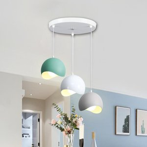 Pendant Lamps Dining Room Light Special Bright, Modern Simple Three Head Nordic Net Red Lamp Makalon Creative Suction And Hanging Dual-purpo