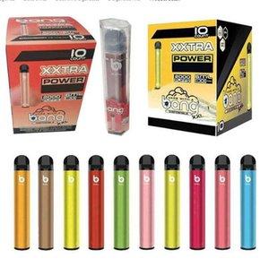 Bang XXL XXTRA 전자 담배 2000Puffs 일회용 vape 장치 펜 GT 800mAh 전원 배터리 미리 채워진 6ml 포드 카트리지 증기 ecigs 휴대용 기화기 퍼프 Xtra