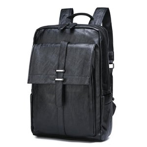 Backpack 2021 Korean-style Men's Pu-Style Travel Bag School Casual Fashion Stylish Computer