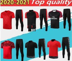 Top Calidad Milan Polo Camisa de entrenamiento de entrenamiento Jersey de fútbol. Kit de sudadera roja 20/21 Manga corta Fútbol Sport Tamaño S-2XL