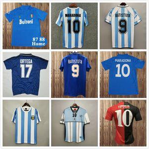 Maradona 1978 1986 Retro Arjantin Soccer Jersey Klasik 96 97 1994 1998 Newells Eski Erkek Vintage Futbol Gömlek Messi Riquelme Crespo Tevez