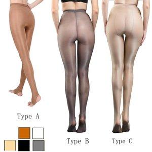 Women Sexy Oil Shiny Solid Glitter Tights T Crotch Plus Size Sparkle Pantyhose Female Black Glossy Stockings Dance 9011 Socks & Hosiery
