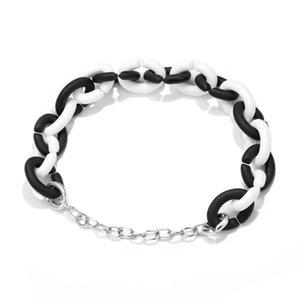 2021 925 Silver Charms Hard Rubber X Rainbow for Women Men Trend Original DIY Finished Link Chain Bracelet 23CM
