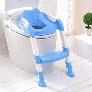 2 Colors Folding Baby Infant Kids Toilet with Adjustable Ladder Portable Urinal Potty Training Seat Children 210317
