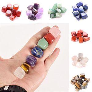 Natural Crystal Chakra Stone 7pcs Set Stones Palm Reiki Healing Crystals Gemstones Home Decoration Accessories DWD10421