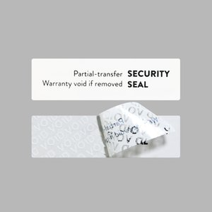 Custom White PVC Void Broken Security Labels Stickers Rolling Boxes Seal Broke Adhesive Package Sticker Label