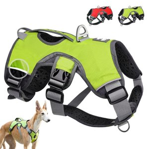 Dog Collars & Leashes Pet Harness For Big Large Dogs Vest Adjustable Strong Outdoor Reflective Service Supplies Accessories Products
