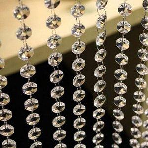 Blinds 10PCS 1M DIY Wedding Decor Diamond Curtain Acrylic Crystal Beads String Strand Garland Haing Decorative Ornament