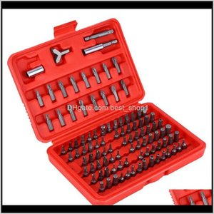 100Pcs Power Bit Tools Set Chrome Vanadium Steel Security Torx Hex Phillips Drill Star Spanner Screw Driver Kit With Storage Case Ahwj Vuxli
