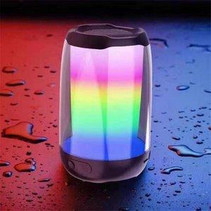 Portable Speakers Bluetooth-compatible Speaker Loudspeaker Waterproof Bass Stereo Outdoor With LED Lights Card Audio Microphone 4