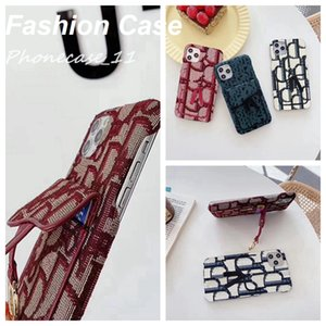 Fashion Card Pocket Textile Kickstand Iphone Cases for phone 12 Pro Max 12P 12 11 11P 11Pmax X xs XSmax xr 8plus 8 7plus wholesaler