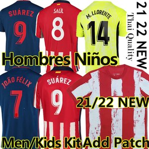 2022 Soccer Jerseys Suarez Madrid 2021 22 Joao Felix Saul Koke M.Llorente DEMBele Men Kids Kits Training football jersey